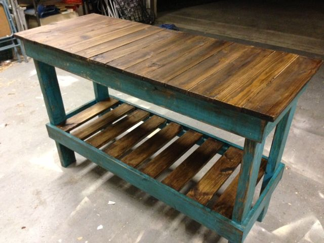 reclaimed wood, rustic, sofa table