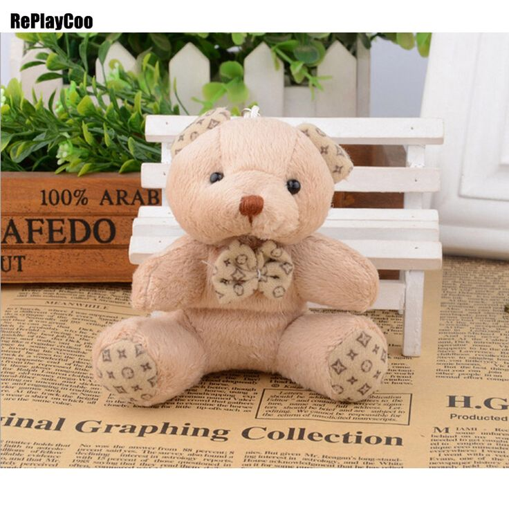 40pcs/lot Kawaii Small Joint Teddy Bears Stuffed Plush Toys 10CM Teddy-Bear Mini Bear Ted Bears Plush Toy Wedding Gifts 0065  #Affiliate