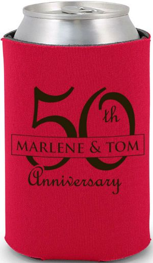 Wedding anniversary koozies and coolers on pinterest