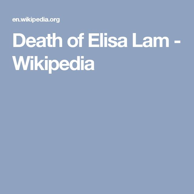 Death of Elisa Lam - Wikipedia