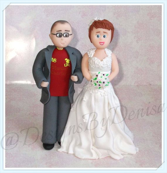 Polymer Clay HandCrafted Personalised Bride and by DesignsByDenisa