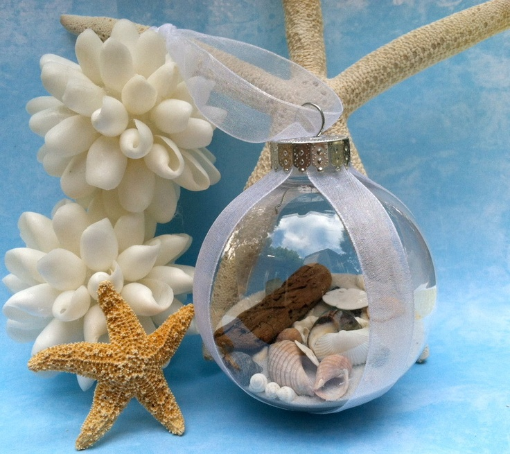 Seashell christmas ball ornament would totally love to - Seashell ornaments to make ...