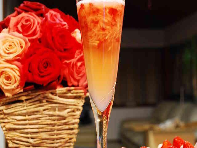 クラッシュ苺のシャンパン風☆ノンアルコールの画像