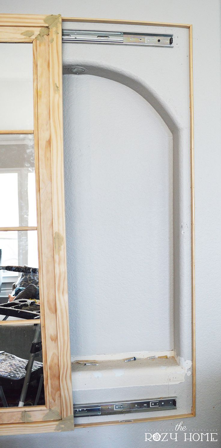 Large wall niche decorating ideas recessed wall niche decorating - How To Cover A Niche But Keep The Storage Hidden Storagehouse Decorationsdiy Decoratingstorage Ideasbathroom Ideaswall