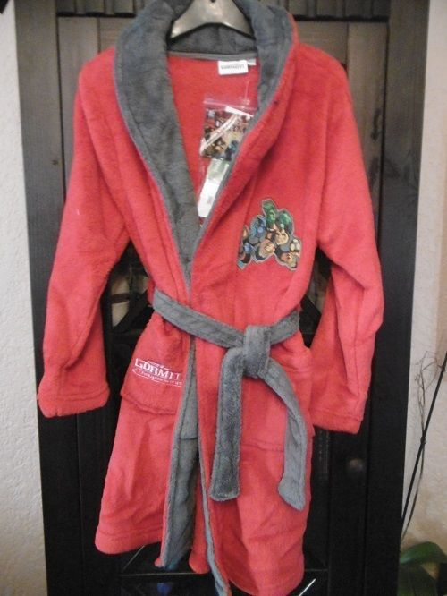 Robe de chambre rouge garçon Gormiti en 8 ans