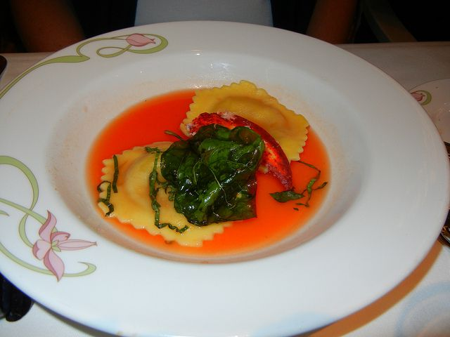 Disney Dream - Enchanted Garden Lobster Ravioli appetizer