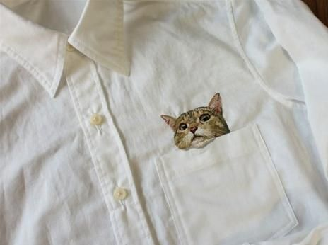 Cat in the Pocket Shirt