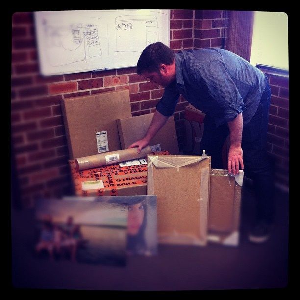 "@derekclapham's photo: ""@kaintietzel getting all creative with boxes"""