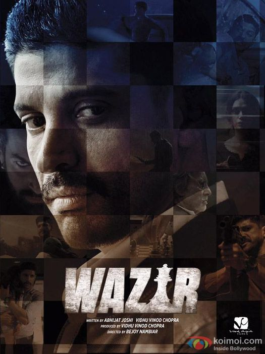Farhan Akhtar in Wazir Movie Poster