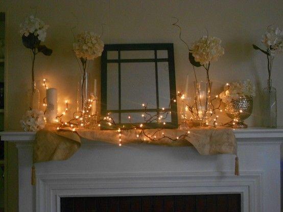 Best fireplace mantel decorations images on pinterest