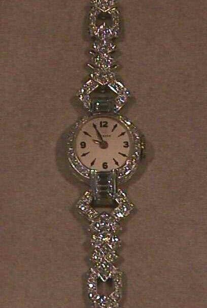 orologio bracciale oro bianco brillanti anni 30 Riva gioielli antichi Bergaml www.rivagioielli.it