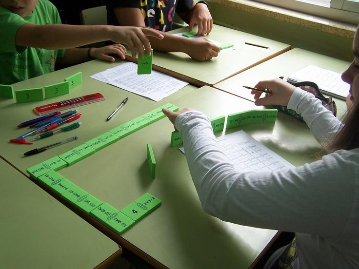 Practicando cálculo con el dominó de operaciones