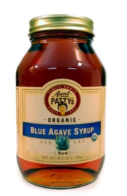 RAW BLUE AGAVE SYRUP Raw blue agave syrup is made from the pina of the blue agave plant, grown in the state of Jalisco, Mexico. The fresh juice is thickened into a sweet syrup by gentle heating and evaporating at temperatures below 116 degrees. Agave syrup has a mild flavor and is sweeter than sugar, making it a popular vegan alternative to honey and a great sweetener for beverages, baked goods, and fresh fruit