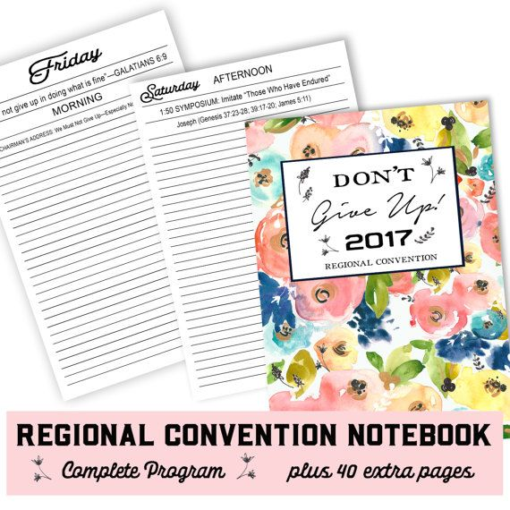 Convention Notebook   jw ministry  jw convention by HappierToGive
