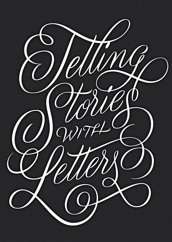 Telling Stories with Letters, hand-drawn - Martina Flor