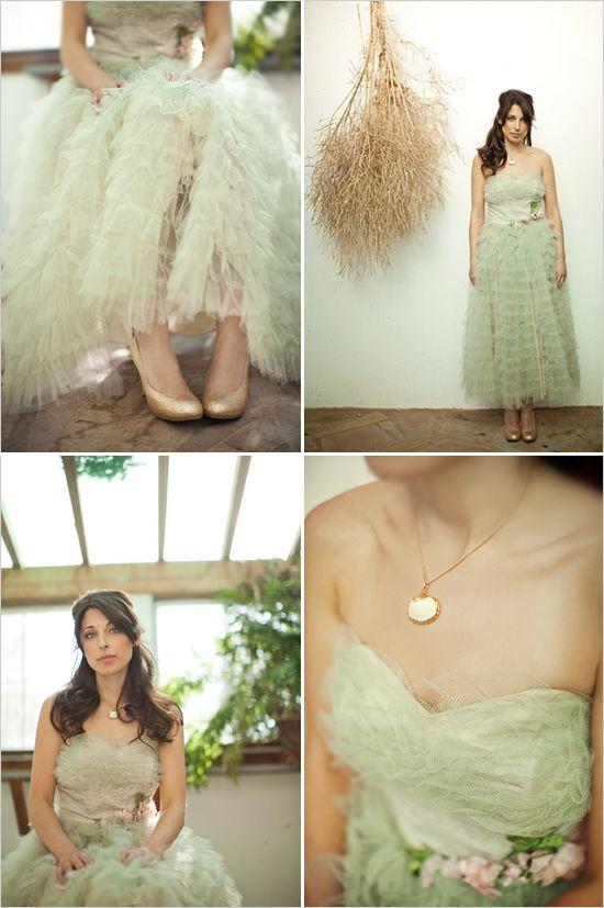 зеленые свадебные туфли