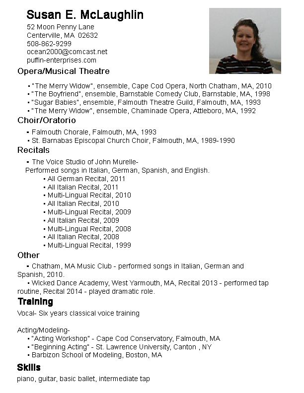 Music Resume  Practical