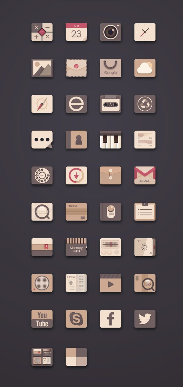 UI Icon Design by Kindesign http://weandthecolor.com/ui-icon-design-kindesign/35324