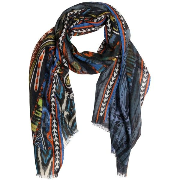 Etro Men Paisley Printed Cashmere & Silk Scarf ($460) ❤ liked on Polyvore featuring men's fashion, men's accessories, men's scarves, multicolor, mens silk scarves, mens scarves and mens cashmere scarves
