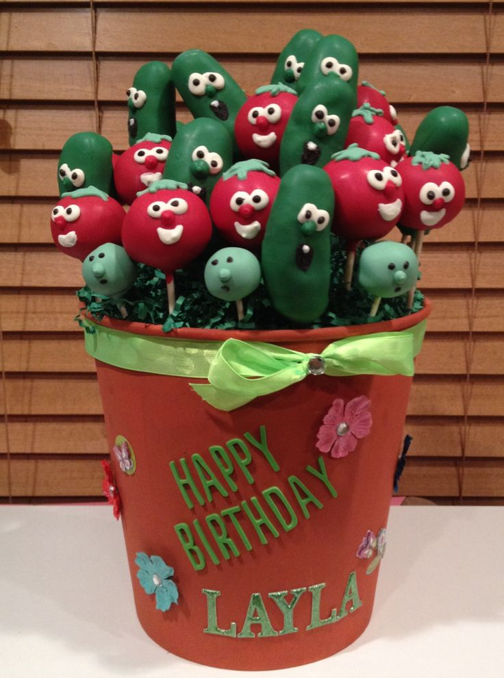Veggie Tales Cake Pops