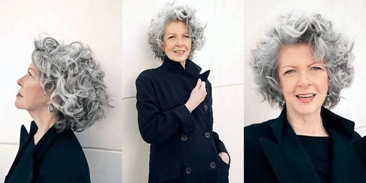 How To Wear Curly Gray Hair Best Plus JV's Makeup Tricks For Women Over 50 Haircut: Lance Lappin Style & Photography: Marco Candela Michelus Makeup: JV Galindo When a young woman walks in…