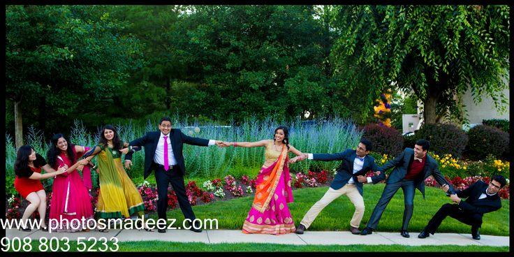 Engagement Party at Pine Crest Country. Gujarati Bride Gujarati Groom - I do. Best Wedding Photographer PhotosMadeEz. Award Winning Photographer Mou Mukherjee - Wedding Album Bridal Party