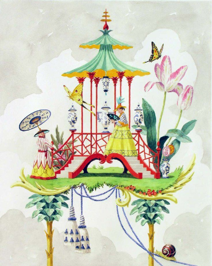 Chinoiserie by Harrison Howard. Penelope Bianchi blog                                                                                                                                                     More