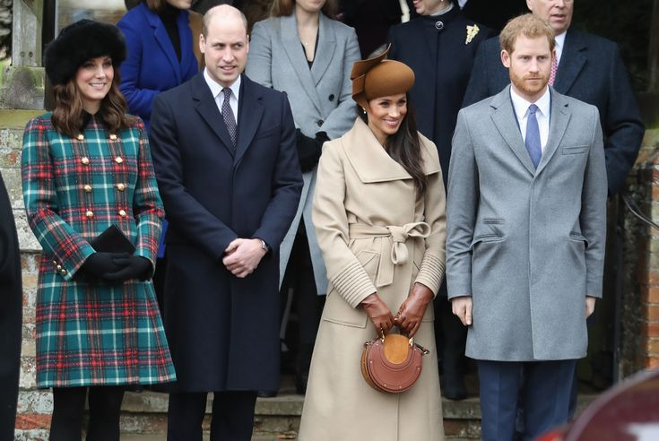 Meghan Markle's Wintry Church Look Is Perfect for Her First Royal Christmas | She joined Prince Harry, Kate Middleton, Prince William, and Queen Elizabeth for Christmas services.