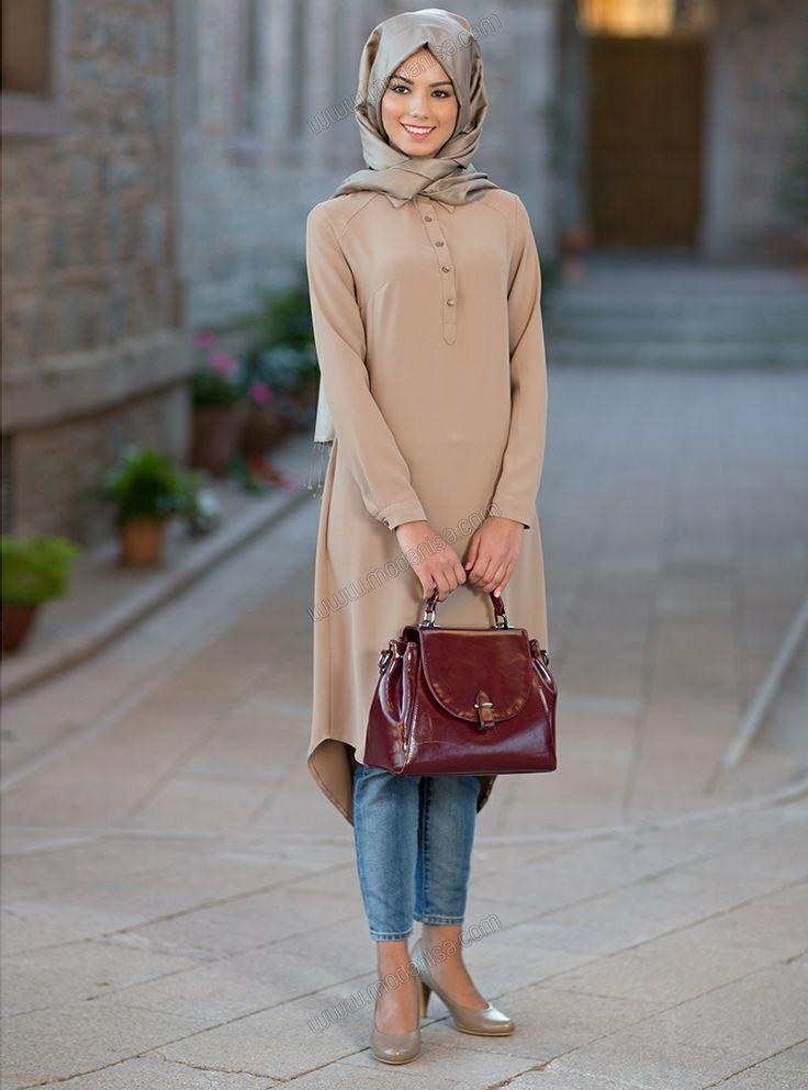 Frezya Tunik 5012 - Camel - Kuaybe Gider
