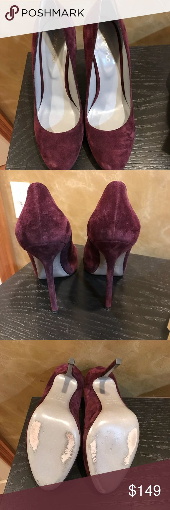 Sergio Rossi pumps. EUC. EUC Sergio Rossi pumps in Blood Red (burgundy/wine color). Please feel free to ask question. Sergio Rossi Shoes Heels