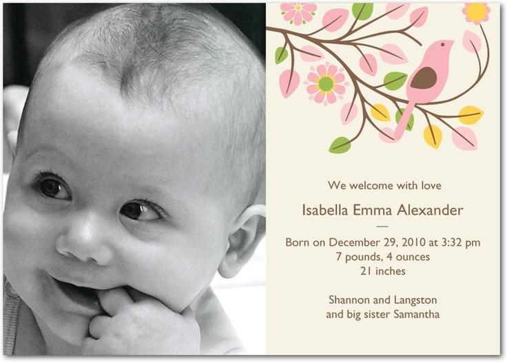 102 best baby birth announcement images – Unique Birth Announcement Cards