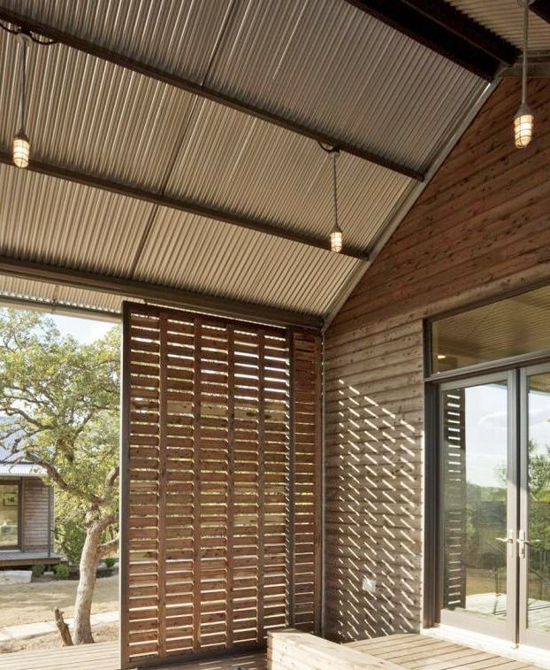 Love the sliding louvre doors - great idea to close off our pergola area for the sun in summer and for cosiness in winter