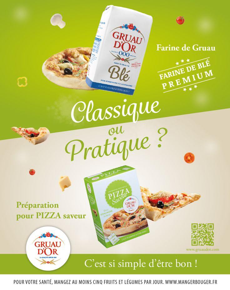 Farine de gruau ou Préparation pour pizza ?