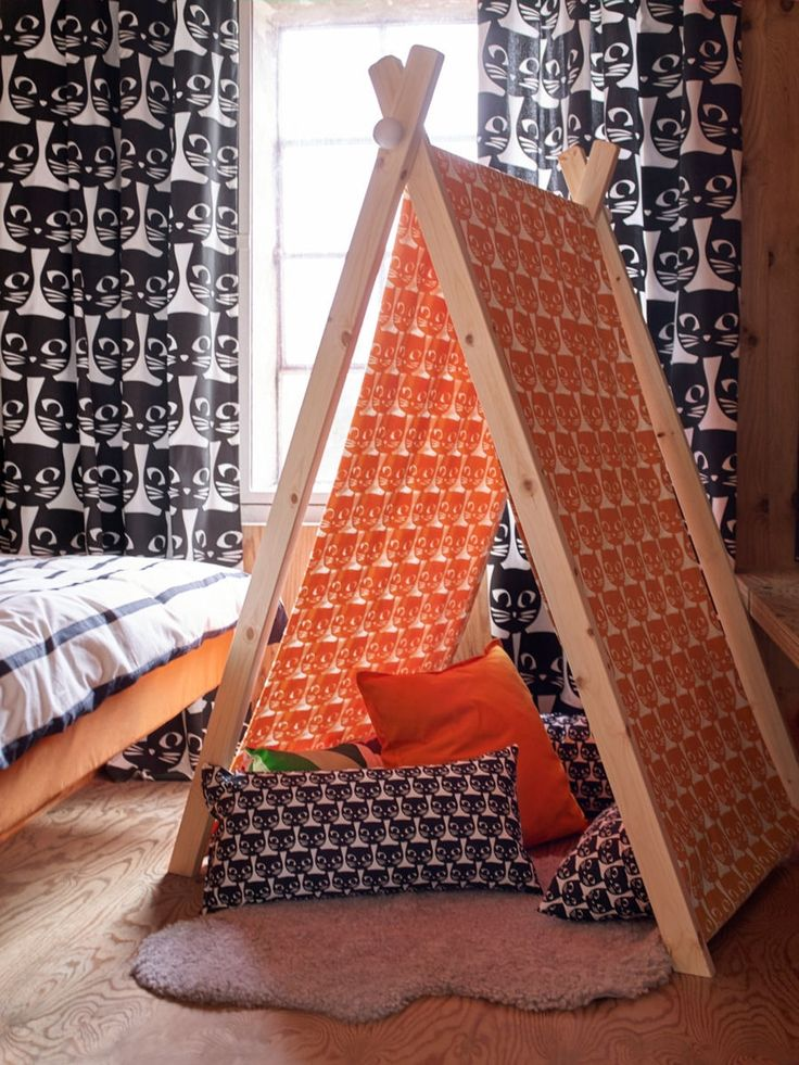 des rideaux motifs chat chambre de b b enfants. Black Bedroom Furniture Sets. Home Design Ideas
