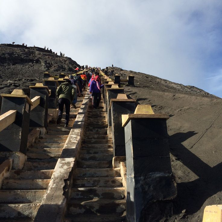 Stairs. Bromo, Indonesia.