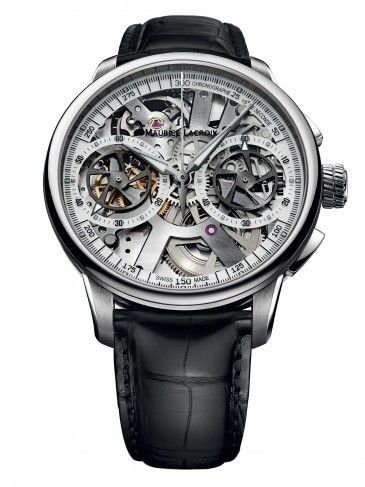 17 best images about men s skeleton watches maurice lacroix mp7128 ss001 100 le chronographe squelette mechanical skeleton watch for men