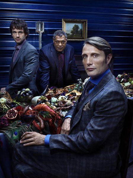 Hannibal, starring Hugh Dancy, Mads Mikkelsen, and Laurence Fishburne.