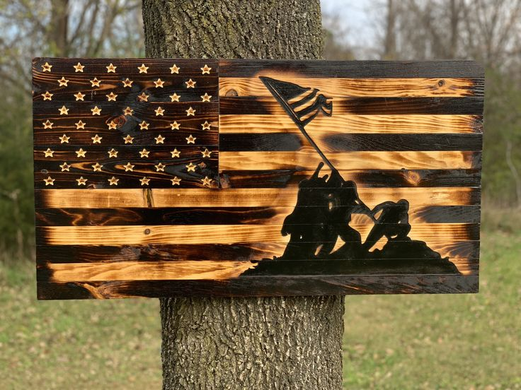Iwo Jima Rustic Wooden Flag In 2019 Products We Make
