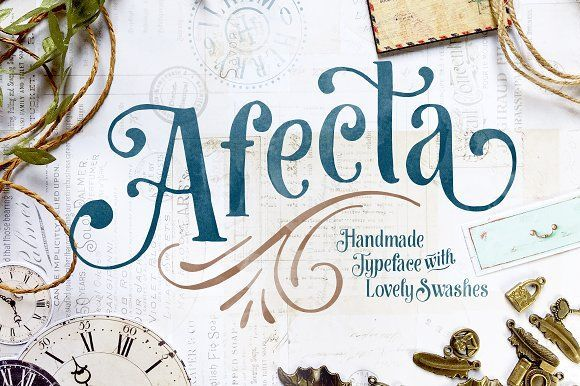 Afecta Typeface by ilhamherry on @creativemarket