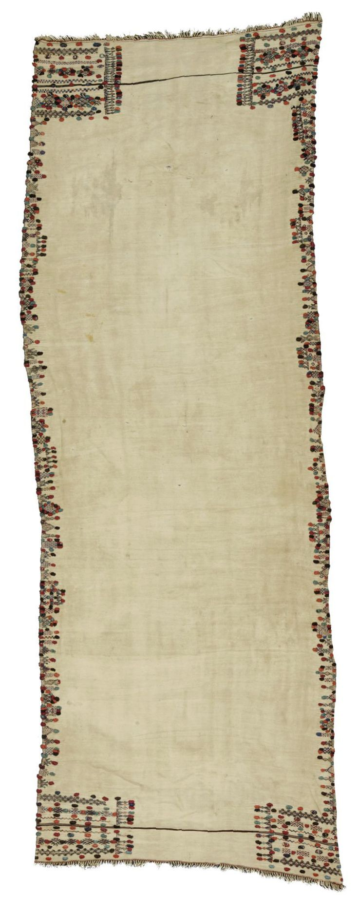 Africa   Haik from Morocco   Wool; the border applied with coloured bobbles