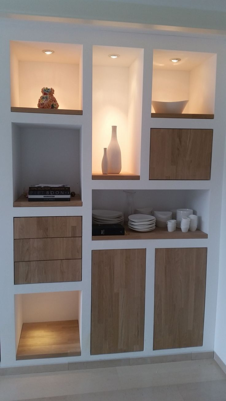 Modern | build-in furniture | custom made | oak | white | shelf | doors