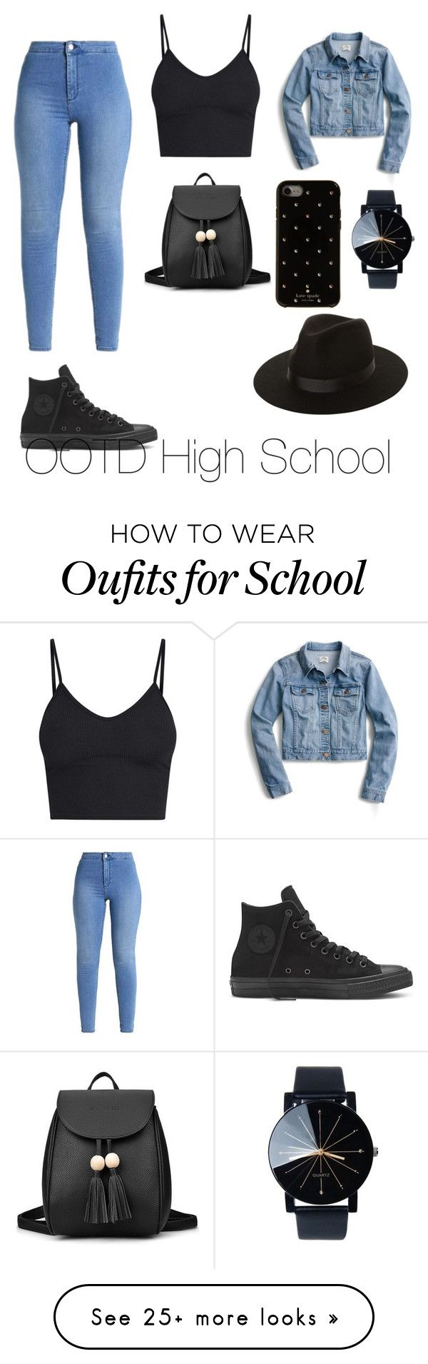"""OOTD High School"" by roxana-balan on Polyvore featuring J.Crew, Kate Spade and Lack of Color"