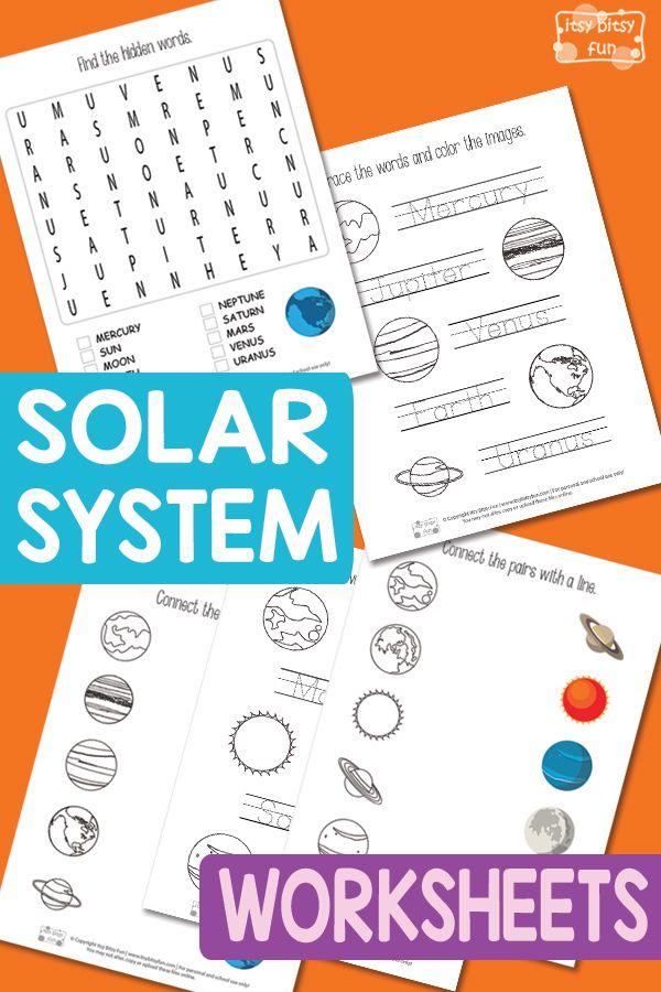 best 25 solar system worksheets ideas on pinterest solar system kids solar planet and solar. Black Bedroom Furniture Sets. Home Design Ideas