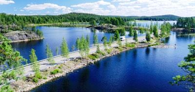 A road in Puumala, Eastern Finland