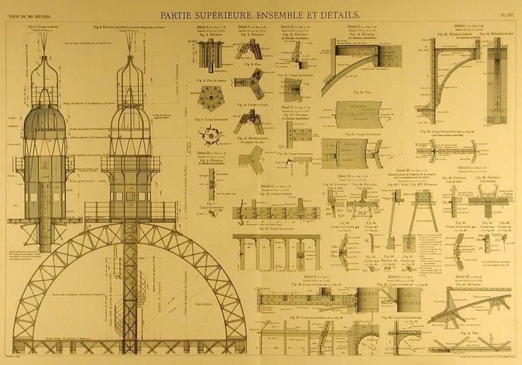 Les plans originaux de la Tour Eiffel