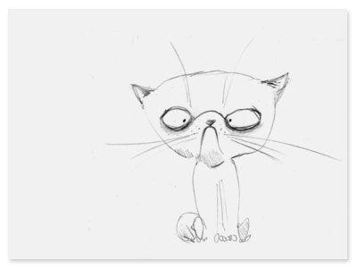 Bulldog-kitty – andrearingli illustration