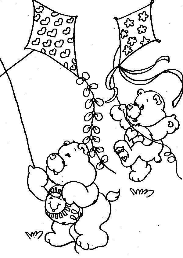 Bears Playing Kite