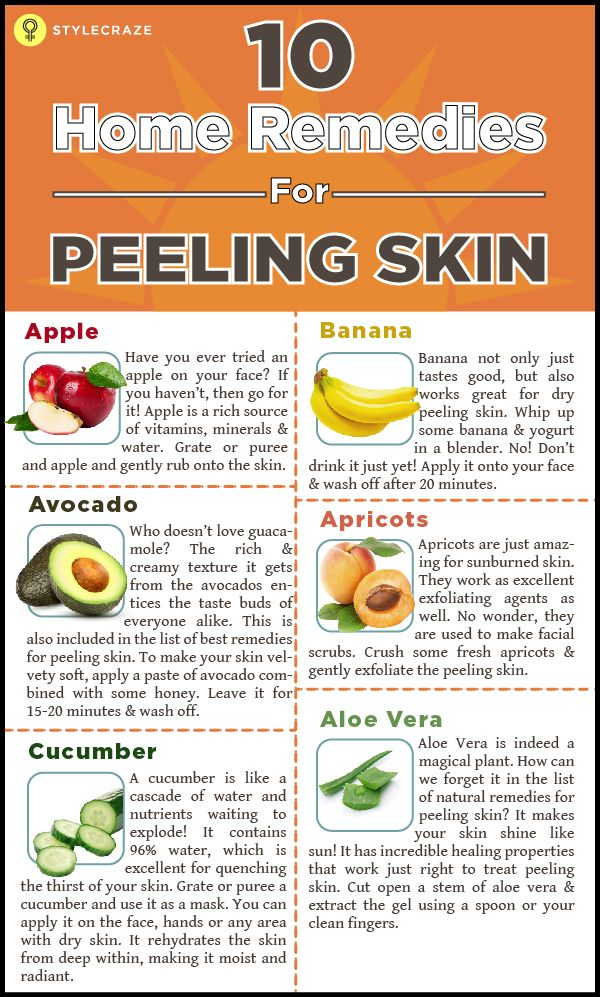Is you skin peeling off due to extreme dryness? Peeling of skin due to dryness is a common problem among men and women alike. It robs the skin of its exquisiteness, making it look dull and lifeless. But there is a solution to every problem and we bring to you, ten of the effective remedies for peeling skin!