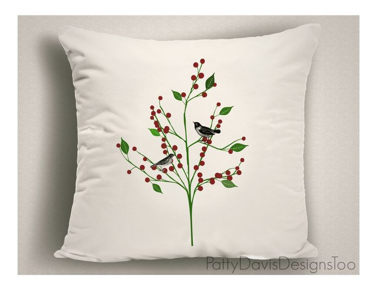 Decorative Throw Pillow Covers Birds Nursery Childrens Pillows Double Sided
