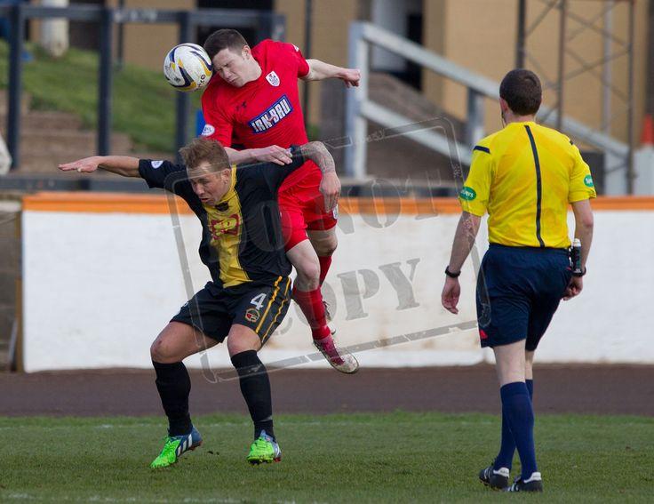 Conor McVey wins a header